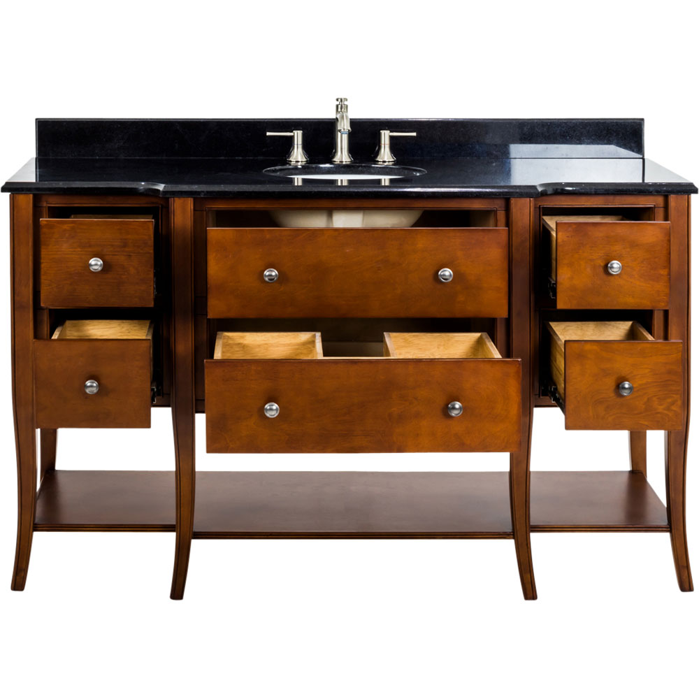 "60"" Philadelphia Classic vanity in Chocolate with top"